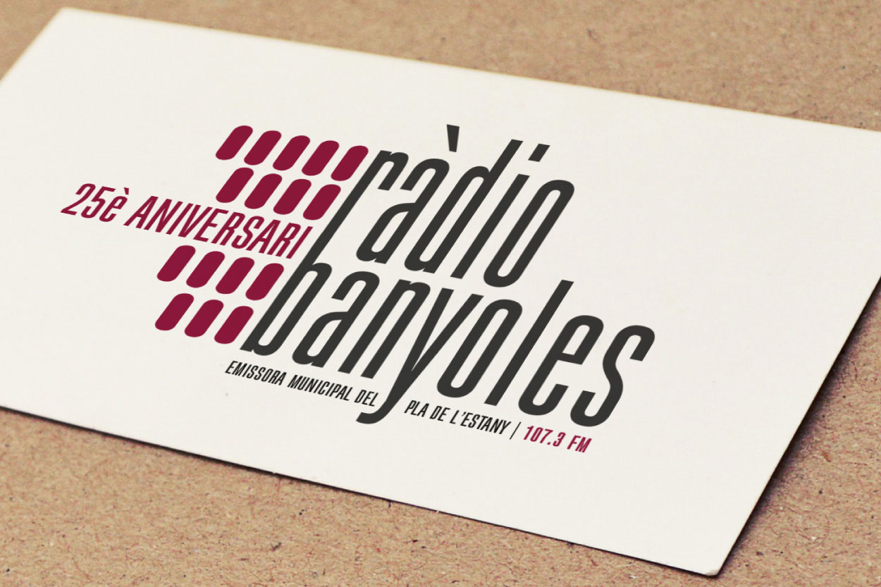 La nostra experiència amb el logotip dels 25 anys de Ràdio Banyoles