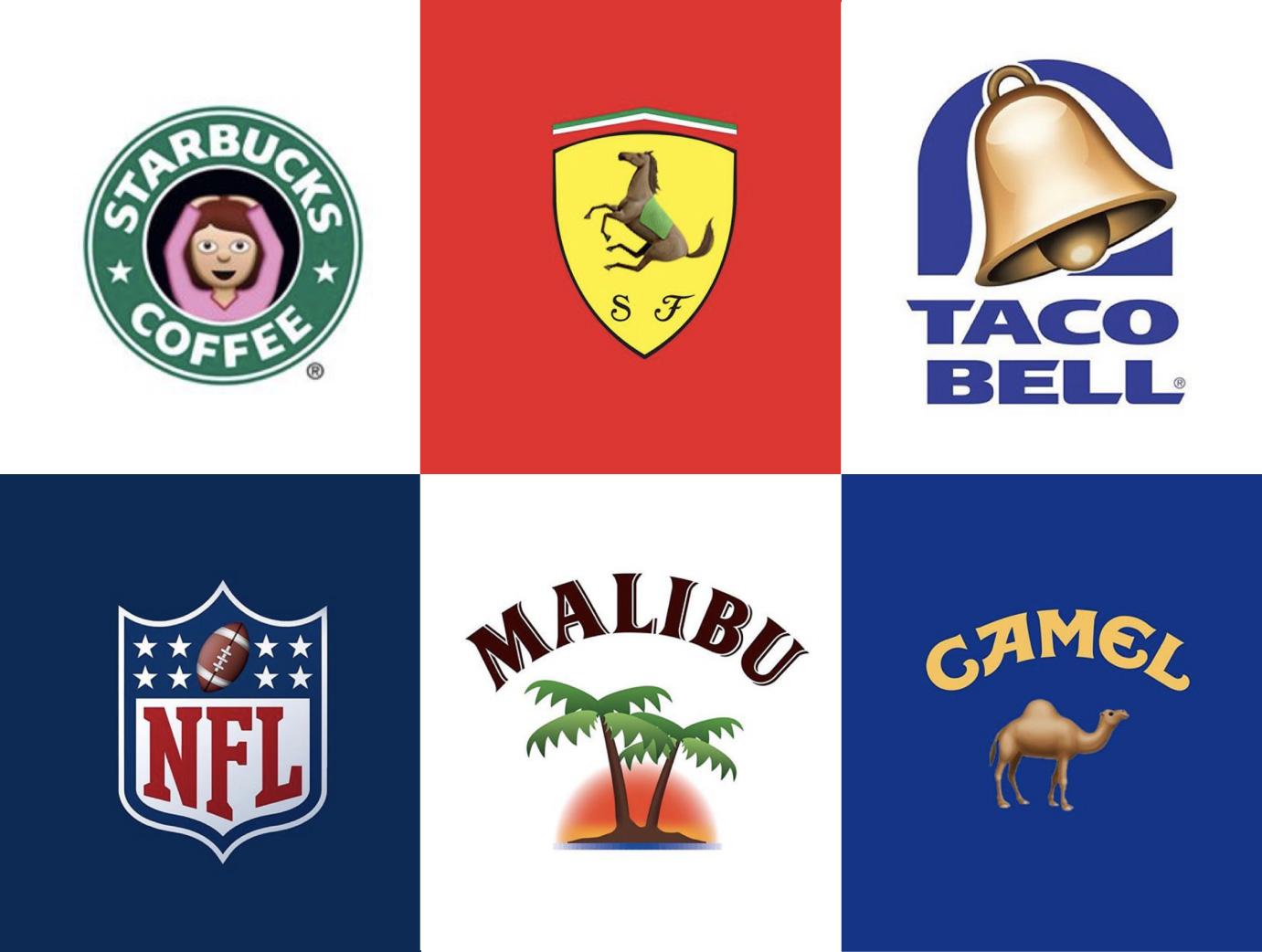 Logos famosos en versió emoji