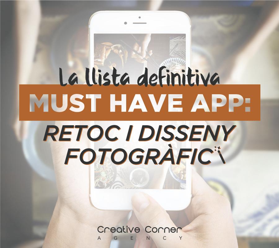 """La llista definitiva """"MUST HAVE APP"""": retoc i disseny fotogràfic [Apps gratuïtes]"""
