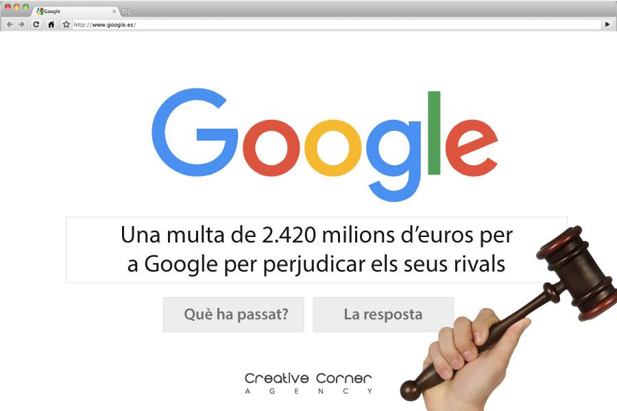 Una multa de 2.420 milions d'euros per a Google