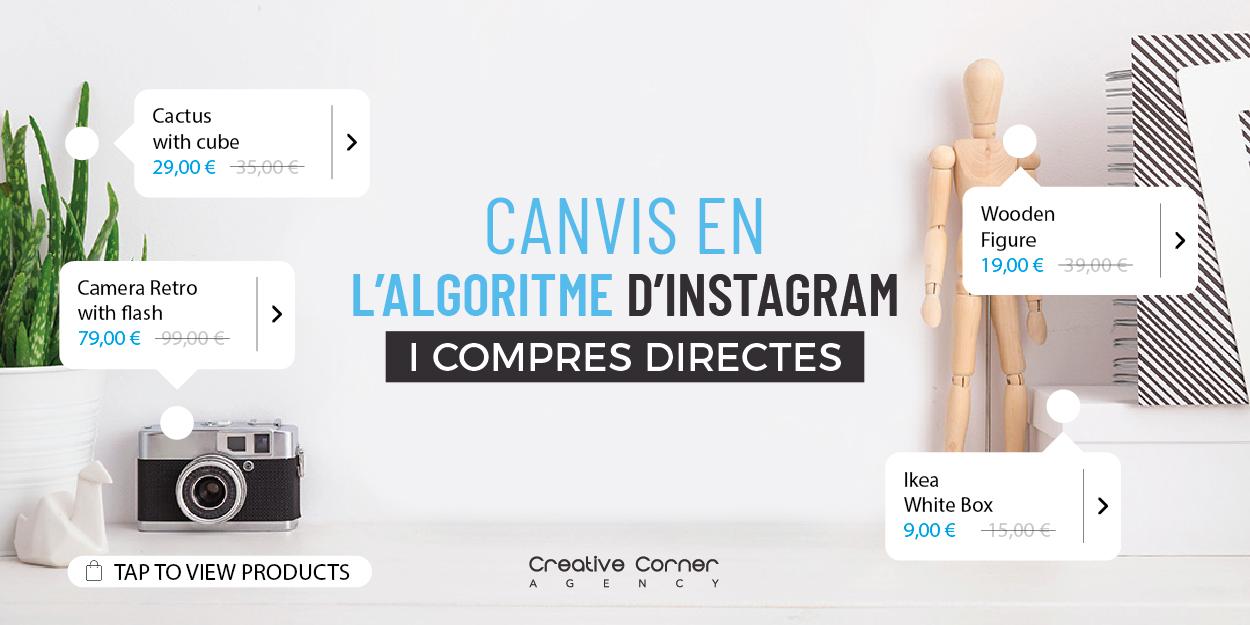 Canvis en l'algoritme d'Instagram i compres directes