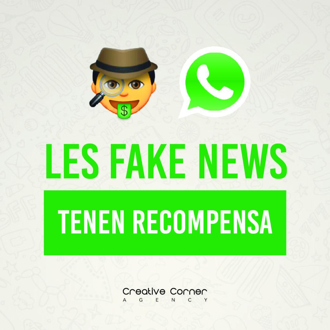 LES FAKE NEWS TENEN RECOMPENSA