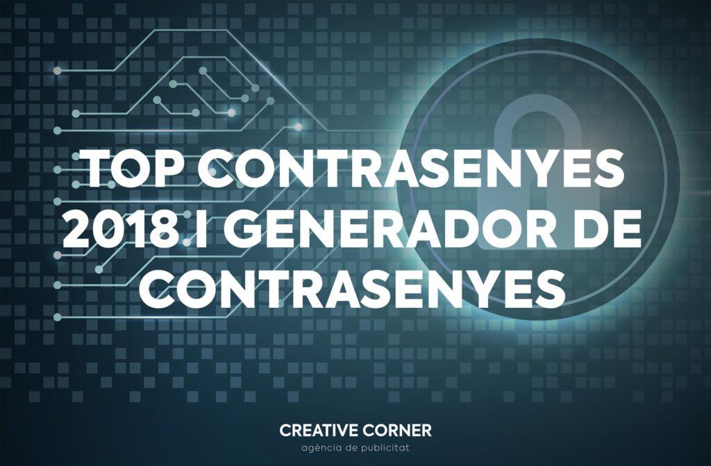 Top contrasenyes 2018 - Generador de contrasenyes